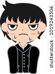 boy's japanese student naughty... | Shutterstock .eps vector #1019243506