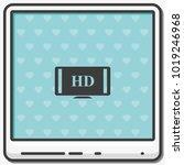 hdtv flat vector icon. high... | Shutterstock .eps vector #1019246968