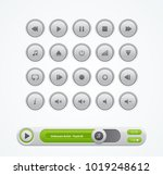white round media player buttons | Shutterstock .eps vector #1019248612