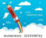 creative art idea illustrator... | Shutterstock . vector #1019248762