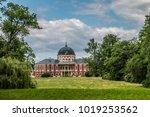 state castle veltrusy with park ... | Shutterstock . vector #1019253562