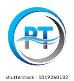 initial letter logo pt company... | Shutterstock .eps vector #1019260132