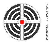 round target with red spot in... | Shutterstock .eps vector #1019267548