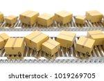 3d illustration packages... | Shutterstock . vector #1019269705