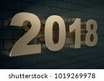3d illustration of a golden... | Shutterstock . vector #1019269978