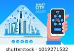 smart city. urban landscape...   Shutterstock .eps vector #1019271532