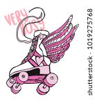 Vintage Roller Skate With Wing...