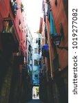 alleys of barcelona | Shutterstock . vector #1019277082