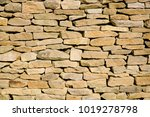 cotswold drystone wall | Shutterstock . vector #1019278798