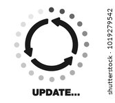 update software icon. concept... | Shutterstock .eps vector #1019279542