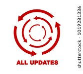 update software icon. concept... | Shutterstock .eps vector #1019281336