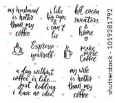 set of vector quotes about... | Shutterstock .eps vector #1019281792