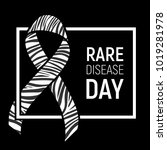 poster for rare disease... | Shutterstock . vector #1019281978