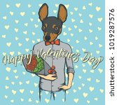 vector valentine day concept.... | Shutterstock .eps vector #1019287576