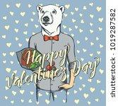 vector valentine day concept.... | Shutterstock .eps vector #1019287582