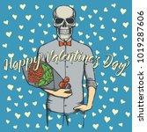 vector valentine day concept.... | Shutterstock .eps vector #1019287606