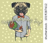 vector valentine day concept.... | Shutterstock .eps vector #1019287612