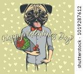 vector valentine day concept.... | Shutterstock .eps vector #1019287612