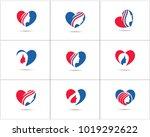 spa and salon logo design set ... | Shutterstock .eps vector #1019292622