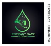 cleaning service business logo... | Shutterstock .eps vector #1019302678