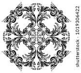 classical baroque vector of... | Shutterstock .eps vector #1019306422