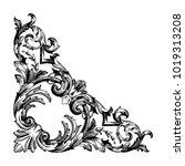 classical baroque vector of... | Shutterstock .eps vector #1019313208