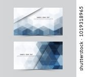 blue colored hexagons on a... | Shutterstock .eps vector #1019318965