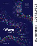 abstract colorful mosaic wave.... | Shutterstock .eps vector #1019319925