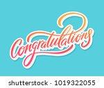 congratulations. vector... | Shutterstock .eps vector #1019322055