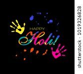 abstract colorful happy holi... | Shutterstock .eps vector #1019326828
