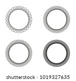 collection of 4 black line... | Shutterstock .eps vector #1019327635