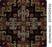 ethnic boho seamless pattern in ... | Shutterstock .eps vector #1019334316