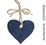 Jeans Tag Label Shape Heart...