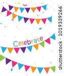 celebration background with... | Shutterstock .eps vector #1019339266