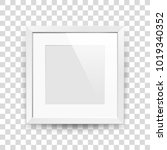 realistic empty squre white... | Shutterstock .eps vector #1019340352