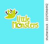 vector cartoon monster. cartoon ... | Shutterstock .eps vector #1019346442
