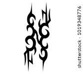 tattoo tribal vector design.... | Shutterstock .eps vector #1019348776
