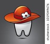vector funny wisdom tooth...   Shutterstock .eps vector #1019349676