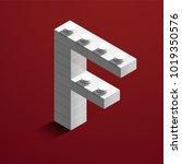 realistic white 3d isometric... | Shutterstock .eps vector #1019350576