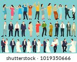 isolated silhouette people ... | Shutterstock .eps vector #1019350666