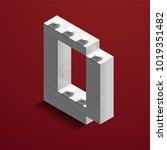 realistic white 3d isometric... | Shutterstock .eps vector #1019351482