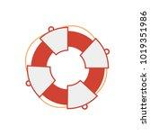 vector life saver | Shutterstock .eps vector #1019351986