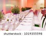 wedding table decoration in...   Shutterstock . vector #1019355598