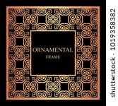 vintage ornamental frame.... | Shutterstock .eps vector #1019358382