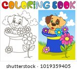 coloring page outline of... | Shutterstock .eps vector #1019359405