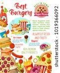 fast food restaurant  burger... | Shutterstock .eps vector #1019366092