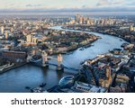arial view of london with the...
