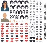 vector illustration of woman... | Shutterstock .eps vector #1019373508