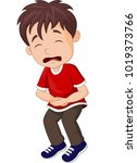young boy suffering from... | Shutterstock .eps vector #1019373766