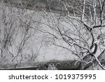 snow in winter on a rooftop.... | Shutterstock . vector #1019375995